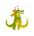 couple of crocodiles in love embracing each other vector image vector image