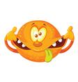 crazy orange vector image vector image