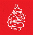 creative merry christmas greeting design vector image vector image