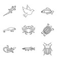 dorr icons set outline style vector image vector image
