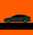 drawing a stylish modern city car vector image