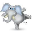 elephant cartoon dancing vector image vector image