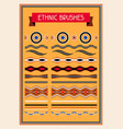 ethnic pattern brushes australian traditional vector image