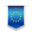 EU flag ribbon vector image