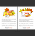 exclusive offer thanksgiving special price posters vector image