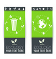 flat cycle eco leaf vertical banners concept vector image