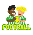 football boy and man vector image