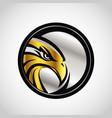 gold silver hawk emblem logo sign symbol icon vector image vector image