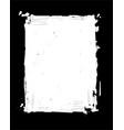 grunge frame - white vector image vector image