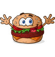 hamburger cheeseburger cartoon vector image vector image