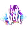 Happy Holi festival of colors greeting background vector image vector image