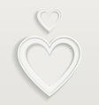 Heart border vector image vector image