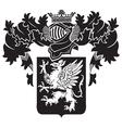 heraldic silhouette no19 vector image vector image
