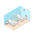 hospital ward isometric interior vector image vector image