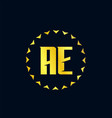 initial letter ae logo template design vector image