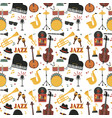 jazz musical instruments tools background jazzband vector image vector image