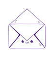 kawaii open envelope cute cartoon isolated icon vector image