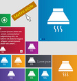 Kitchen hood icon sign Metro style buttons Modern vector image vector image