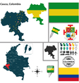 Map of Cauca vector image vector image