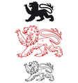 Medieval heraldic lion vector image vector image