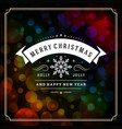 merry christmas and happy new year text greeting vector image vector image
