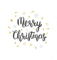 Merry Christmas hand written modern brush vector image