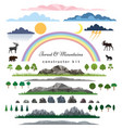 mountains and forest elements vector image vector image