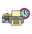 office printer device email clock supplies vector image vector image