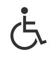 only handicapped sign for wheelchair users icon vector image