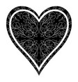 playing card suit hearts vector image