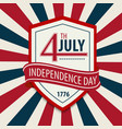 postcard in celebration of independence day vector image vector image