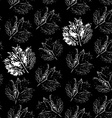 prints of leaf Seamless pattern on a black vector image vector image