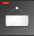 realistic hanging panel billboard vector image