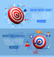realistic targeting marketing banners vector image