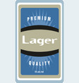 retro styled label premium lager quality good vector image