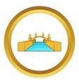Rialto Bridge Canals of Venice icon vector image vector image