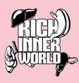 rich inner world hand drawn placard vector image