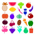 set of vegetarian food icon organic healthy food vector image