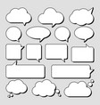 set stickers speech bubbles blank empty vector image vector image