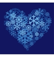 Snow heart vector image vector image