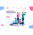 strategy and analysis landing page vector image vector image