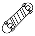 street modern skateboard icon outline style vector image vector image