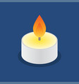 tea candle icon floating candle vector image vector image