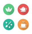 Tea flat design icons set vector image vector image