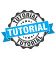 tutorial stamp sign seal vector image vector image