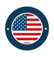 united states america circular emblem vector image vector image