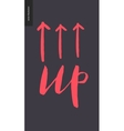 Up lettering and arrows vector image