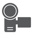video camera glyph icon electronic and device vector image vector image