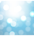 Blue Background With Bokeh vector image