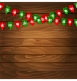 Bunting flag on wooden background vector image